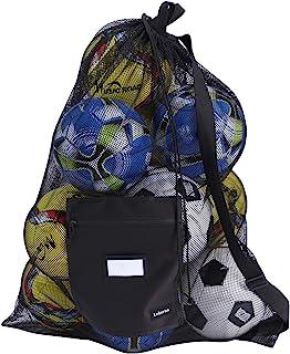 Leberna Mesh Ball Bags Large Drawstring Bags Hold All Sports Equipment Such as Basketball, Volleyball, Baseball, Football,...