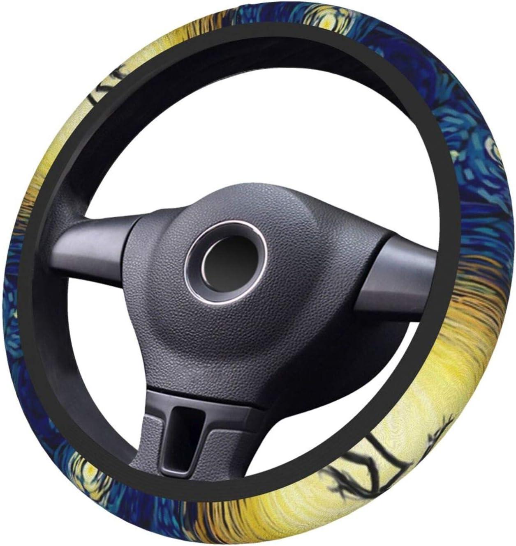 Nightmare Before Christmas Starry Night Steering Wheel Cover Non-Slip Elastic Universal Accessories Fit Suvs Vans Sedans Cars Trucks Decor