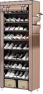 comprar comparacion UDEAR Zapato del gabinete Zapatero de Tela 10 Niveles Zapateros y hormas para Zapatos Marrón