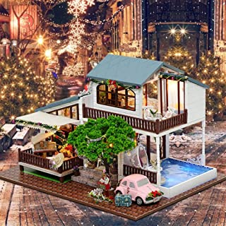 XIAOTIAN Cute Families House DIY Doll House London Holiday Hand Assembled House Model