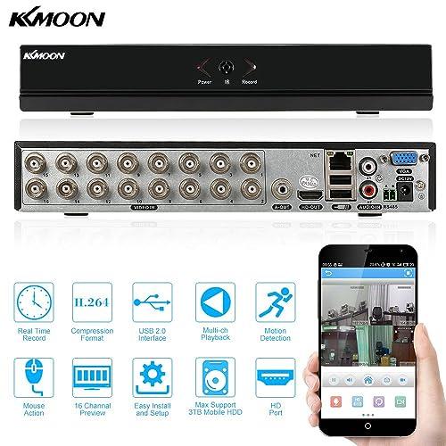 KKmoon 16CH 960H D1 DVR HDMI H.264 CCTV Enregistreur Vidéo Numérique Digital Video Recorder Système de Sécurité Détection de Mouvement P2P Souveiller par Ordinateur ou Smartphone
