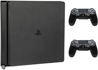 HumanCentric PS4 Mount for PS4 Slim + 2 Controller Mounts Bundle | Mount on The Wall or on The Back of The TV | Patent Pen...