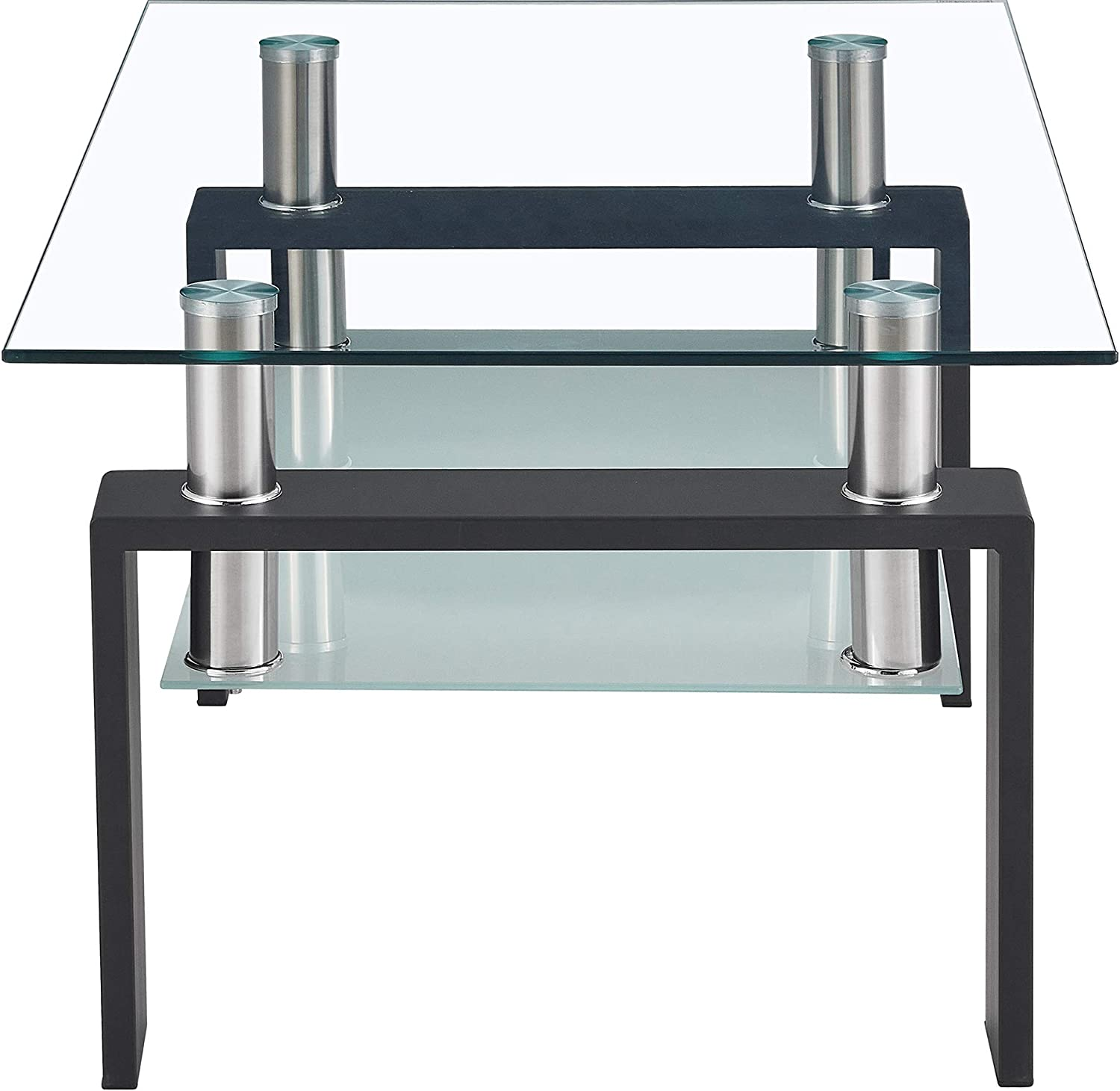 Hendont Tempered Glass Table Coffee Square Max 46% OFF Black Tab Max 65% OFF