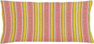 4 Piezas 18X18 Pulgadas Funda De Cojín De Almohada Geométrica,Patrón Peculiar Con Motivos Coloridos Concepto De Tonos De Verano En Repetición Continua,Funda De Almohada Decorativa Rectangular