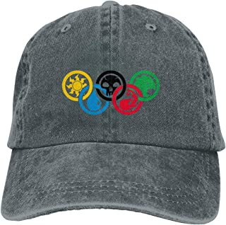 Yuanmeiju Gorra de Mezclilla Magic Gathering Olympics Unisex Hat Leisure Dicer Comfortable Dicer Classic Chapeau