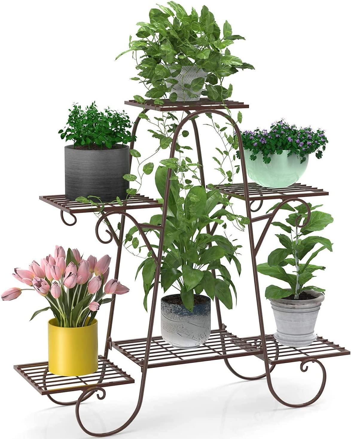 6 Tier Metal Plant Stand Shelves Holder Max 42% OFF Display Flower for Pot I Super sale period limited