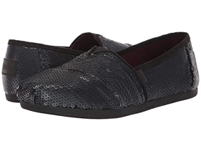 TOMS Alpargata (Black Sequin) Women