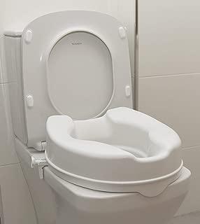 OrtoPrime Elevador WC sin Tapa   Altura 10 Centímetros   Asiento de Inodoro Ortopédico con cierres Laterales de Seguridad   Fijación Universal Adaptable   Peso Soportado 190 Kilogramos
