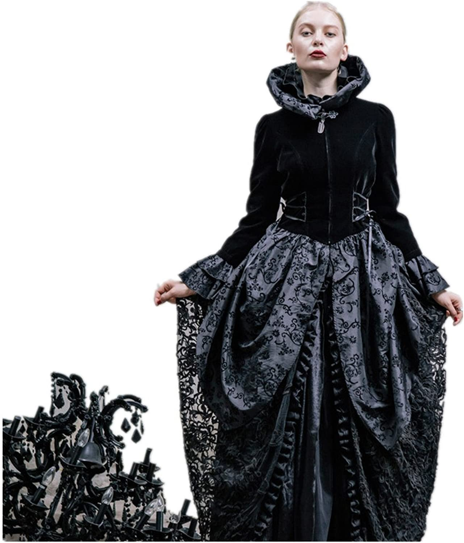 Katoot@ Devil Fashion Flare Sleeve Fabric Jacket Coat Punk Palace Skirt Jackets