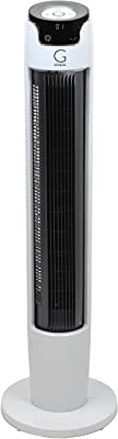 Genesis Powerful 43 Inch Oscillating Tower Fan With Max Air Quiet Technology And Remote