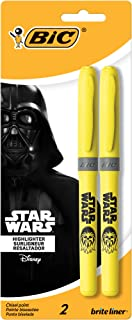 Star Wars BIC Brite Liner Grip Highlighter, Chisel Tip, Yellow, 2-Count