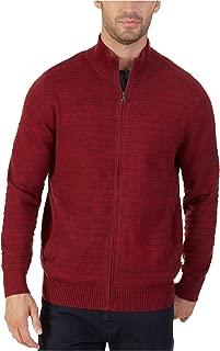 Men's Mock-Neck Full-Zip Cardigan Sweater