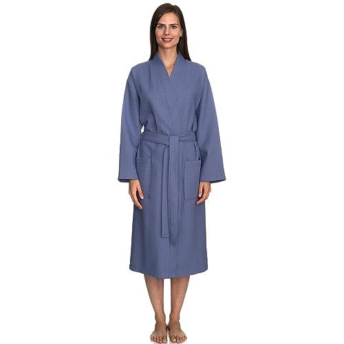 15fcc6f431 TowelSelections Turkish Cotton Waffle Bathrobe Kimono Waffle Robe Made in  Turkey
