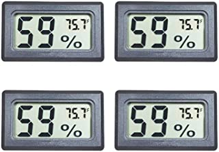 Veanic 4-Pack Mini Digital Electronic Temperature Humidity Meters Gauge Indoor..