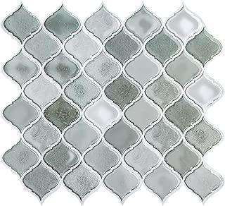 FAM STICKTILES Peel and Stick Tile Backsplash for Kitchen, Stick on Tiles for Backsplash, Peel and Stick Backsplash Decorative Wall Tiles, Smart Tiles Grey 11