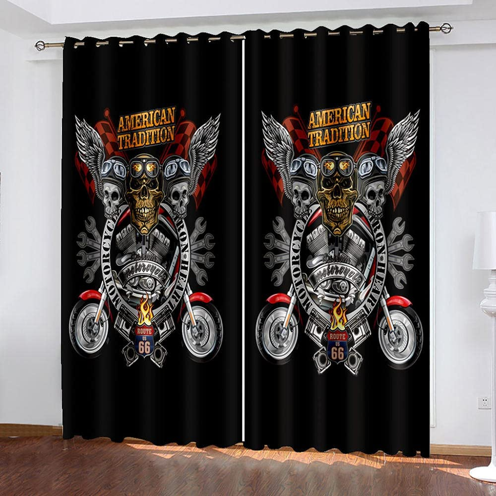 OFFer Kids Blackout service Curtain Skeleton Eagle Living 3D Drapes R