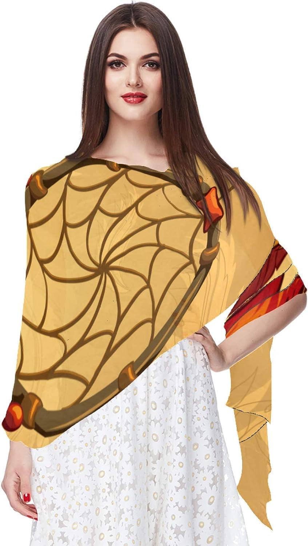 Retro Indian Dreamcatcher Feather Chiffon Scarf for Women Fashion Soft Hijab Long Scarf Wrap Scarves