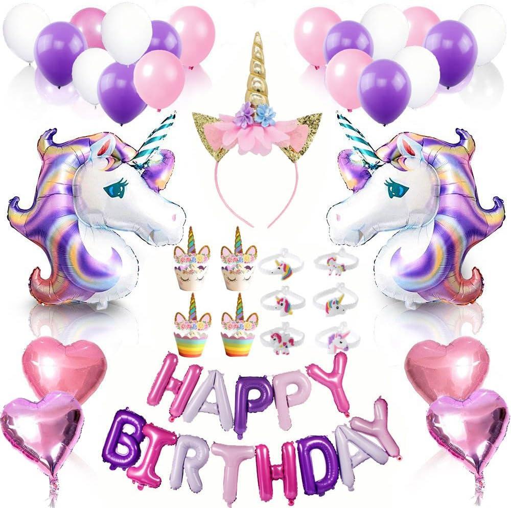Unicorn Birthday Genuine Party Supplies Set- Complete Jacksonville Mall Decorations- 68pcs