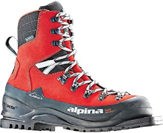 Alpina Sports Alaska 75 Leather 3 Pin 75 mm Backcountry Cross Country Nordic Ski Boots, Red/Black, Euro 37