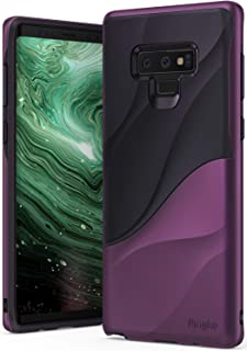 Ringke Wave Case for Galaxy Note 9 with Dual Layer Heavy Duty 3D Textured Shock Absorbent PC TPU Full Body Drop Resistant Protection Modern Design Cover for Note9 - Metallic Purple