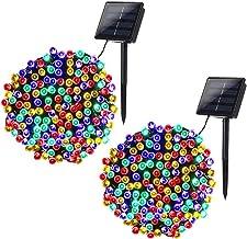 Joomer 2 Pack Solar Christmas Lights 72ft 200 LED 8 Modes Solar String Lights Waterproof Solar Fairy Lights for Garden, Pa...