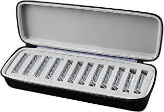 COMECASE Grooming Clipper Blade Case Holder Organizer - Hard Travel Carrying Storage Holds 12 Blades