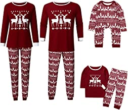 Mikilon Dad Mom Baby Kid Family Matching Christmas Pajamas Sleepwear Homewear Set