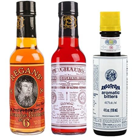 """Bitters """"Triple Play"""" Variety 3-Pack: Angostura, Peychauds and Regans"""