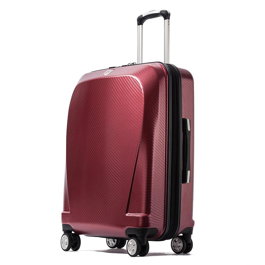 意欲スープ曇ったクロース(Kroeus)スーツケース キャリーケース 容量拡張機能 TSAロック搭載 ファスナータイプ エンボス加工 軽量 ダブルキャスター S型機内持ち込み可 トランクケース 出張 日本語取扱説明書 1年間保証
