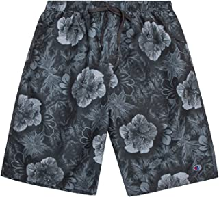 Champion Mens Big and Tall Floral Print Swim Trunks with...