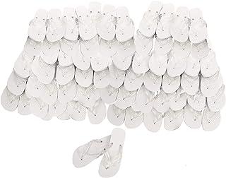 Publiclick White Flip Flops, Pack of 20 Size M Women L Men
