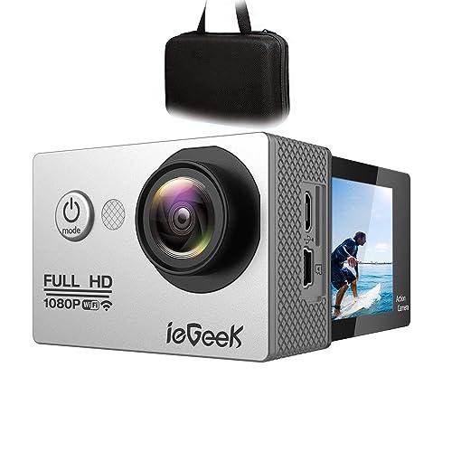 ieGeek Wi-fi Cámara Deportiva Acción 1080P Full HD 2.0 LCD Videocámara Sumergible hasta 30m