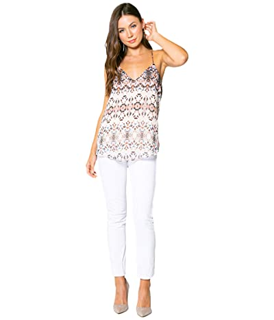 LAVENDER BROWN Ethnic Printed Cami with Adjustable Strap (Taupe/Blue/Brown) Women