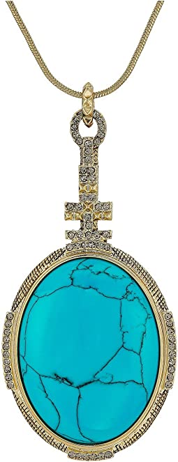 House of Harlow 1960 - Tanta Crosshatch Pendant Necklace