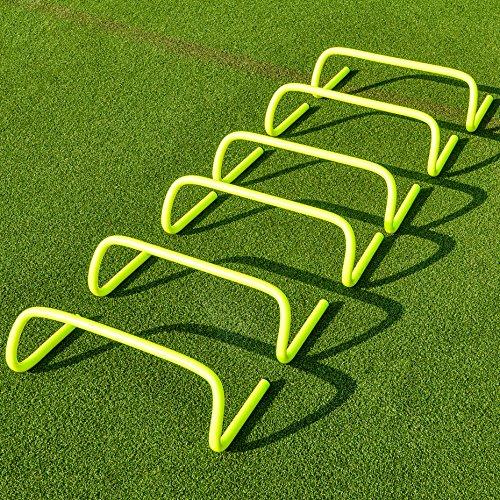 FORZA Speed/Agility Training Hürden (6er-Set) – Multi-Sport Trainingshilfe - wählen Sie Ihre Größe aus (15cm)