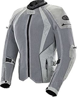 Joe Rocket Cleo Elite Women's Mesh Street Motorcycle Jacket - Silver/Medium