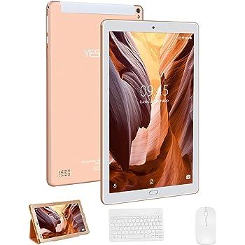 Tablet 10 Pulgadas YESTEL X2, 3GB+32GB, Android 8.1,4G WiFi/Dobles SIM, Tableta (con Funda Protectora, con Tastiera, con Mouse y Teclado) 4 Core, 8000mAh, 1280X800 HD IPS, FM, Type-C, Dorado: Amazon.es: Informática
