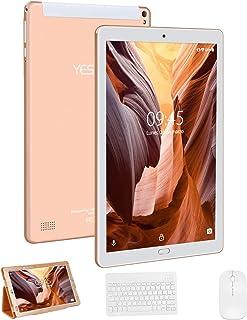 Tablet 10 Pulgadas YESTEL X2, 3GB+32GB, Android 8.1,4G WiFi/Dobles SIM, Tableta (con Funda Protectora, con Tastiera, con Mouse y Teclado) 4 Core, 8000mAh, 1280X800 HD IPS, FM, Type-C, Dorado