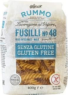 Rummo Fusilli N ° 48 | Italian Gluten Free Pasta | 14 Ounce | Pack of 6