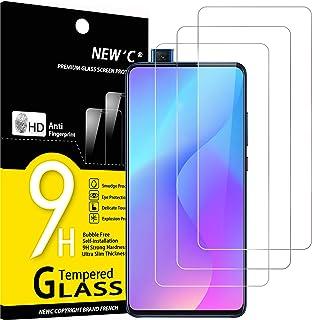 NEW'C 3-pack skärmskydd med Xiaomi Mi 9T, Mi 9T Pro, Redmi K20, K20 Pro – Härdat glas HD klar 9H hårdhet bubbelfritt