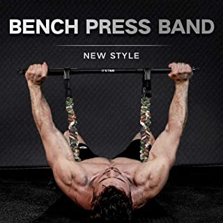 INNSTAR Adjustable Bench Press Band with Bar, Upgraded Push Up Resistance Bands, Portable Chest Builder Workout Equipment,...