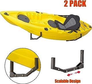 Ultrawall Foldable Jumbo Arm Kayak Holder Wall Hanger Rack Indoor Giant Storage Canoe, Paddle Board, Surfboard, Snow Board, Wake Board Aquaplane Skis
