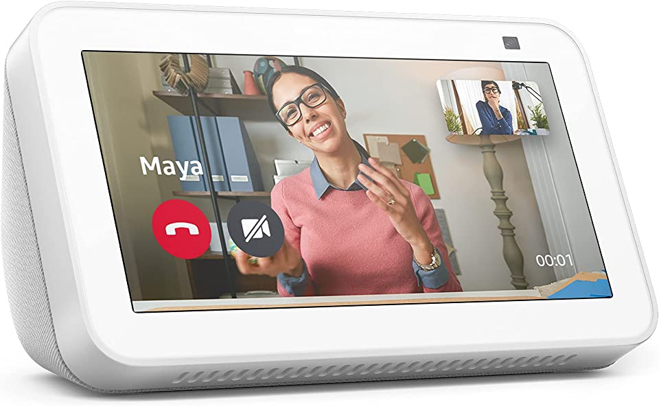 All-new Echo Show 5 | 2nd generation (2021 release), smart display with Alexa and 2 MP camera | Glacier White
