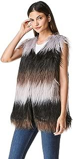 Women's Fluffy Soft Faux Fur Vest Autumn and Winter Warm Fashion Outwear Coat Jacket