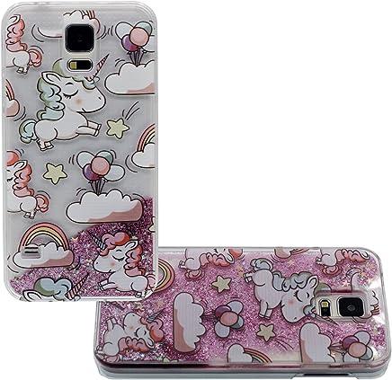 31c627b4837 Linda Dibujos animados Unicornio Serie - Duro Transparente Funda Carcasa  Case para Samsung Galaxy S5 i9600
