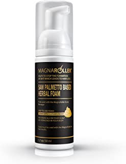 Advanced DHT Blocker with Saw Palmetto by MagnaRoller- Topical Herbal Foam Supplement for Men and Women - Stop Hair Loss & Stimulate Hair Follicles for Growth.  Apply Foam to The Scalp.