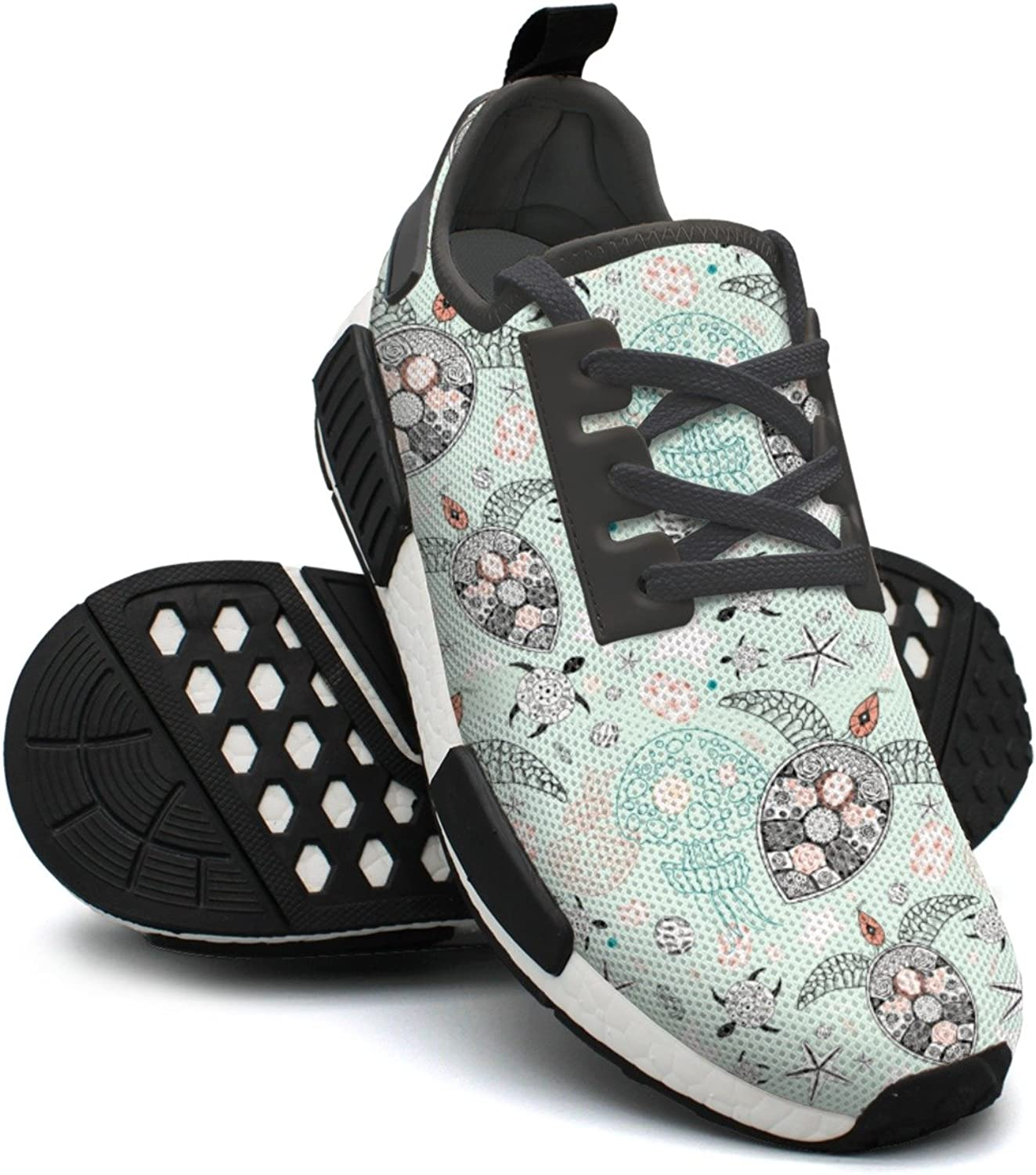 Floral Sea Turtle Light Green Gym Training Running shoes Women NMD