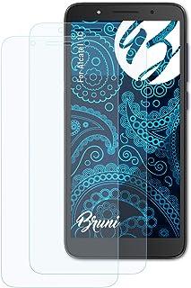 Bruni Skärmskydd är kompatibel med Alcatel 1C Film, kristallklart Skyddsfilm (2X)