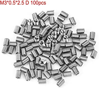 Thread Repair Insert,100pcs Stainless Steel Coiled Wire Helical Screw Thread Insert M30.51.5D
