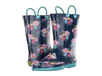 Western Chief Kids Bloom Rain Boot (Toddler/Little Kid) (Navy) Girls Shoes